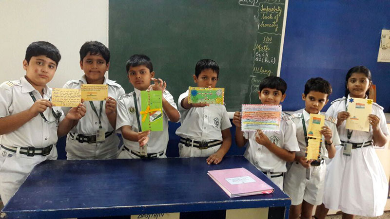 On 72nd Independence Day, We Made THANK YOU Cards for IndianArmy
